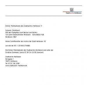 Online-Publikationen des Stadtarchivs Heilbronn 11
