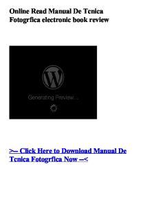 Online Read Manual De Tcnica Fotogrfica electronic book review