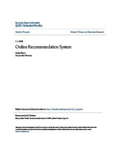 Online Recommendation System