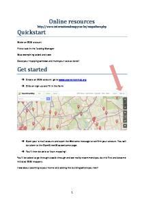 Online resources  Quickstart