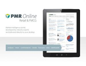 Online. Retail & FMCG. Market intelligence portal, developed by industry experts and delivered directly to your desktop