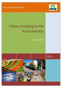 Online retailing in the food industry