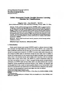 Online Sequential Double Parallel Extreme Learning Machine for Classifications