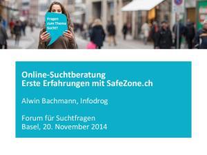 Online-Suchtberatung Erste Erfahrungen mit SafeZone.ch