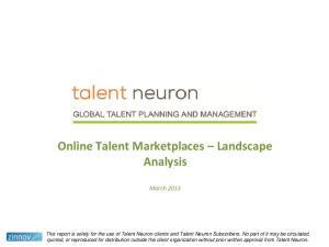 Online Talent Marketplaces Landscape Analysis