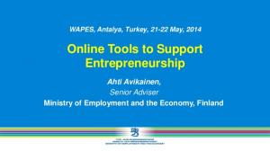 Online Tools to Support Entrepreneurship