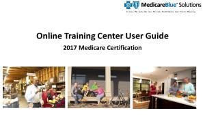 Online Training Center User Guide Medicare Certification