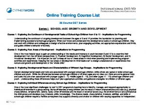 Online Training Course List