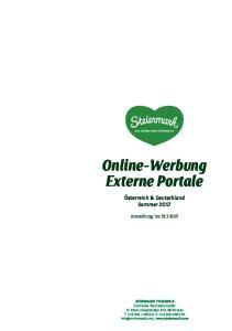 Online-Werbung Externe Portale