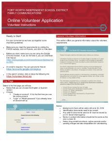Online!Volunteer!Application! Volunteer!Instructions!!
