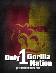 Only. pittstateathleticfund.com. Gorilla Nation
