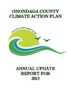 ONONDAGA COUNTY CLIMATE ACTION PLAN