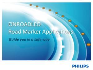 ONROADLED Road Marker Applications