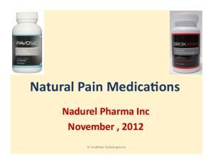 ons Nadurel Pharma Inc November, 2012