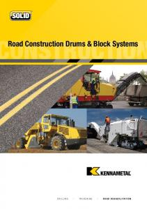 ONSTRUCTION. Construction Drums & Block Systems