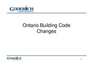 Ontario Building Code Changes