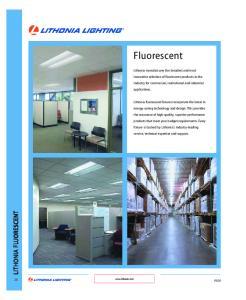 ONTENTS LITHONIA FLUORESCENT. Volumetric Lighting RT5 22. Architectural Lighting