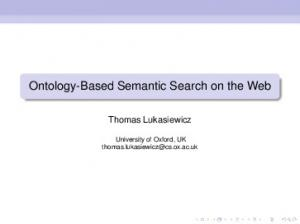 Ontology-Based Semantic Search on the Web