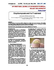 Onychomycosis and Its Treatment