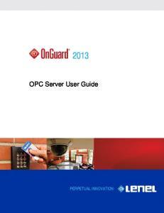 OPC Server User Guide
