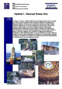 Opcional 1 - Paseos por Buenos Aires