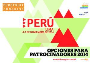 OPCIONES PARA PATROCINADORES 2014