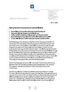 Opel präsentiert emissionsarme ecoflex-modelle