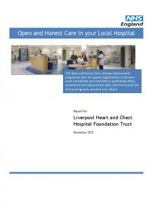 Open and Honest Care in your Local Hospital