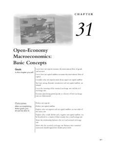 Open-Economy Macroeconomics: Basic Concepts