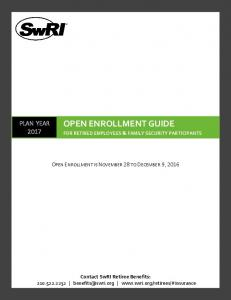 OPEN ENROLLMENT GUIDE