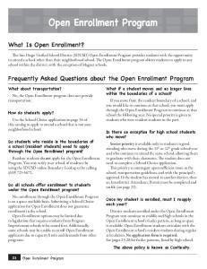 Open Enrollment Program