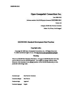 Open Geospatial Consortium Inc
