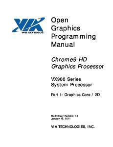 Open Graphics Programming Manual