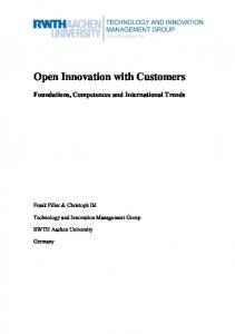 Open Innovation with Customers