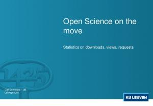 Open Science on the move