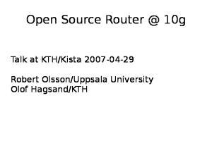 Open Source 10g