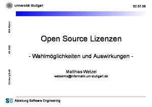 Open Source Lizenzen