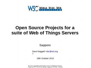 Open Source Projects for a suite of Web of Things Servers