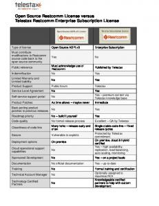 Open Source Restcomm License versus Telestax Restcomm Enterprise Subscription License