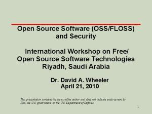 Open Source Software Technologies Riyadh, Saudi Arabia