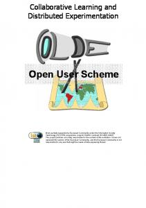 Open User Scheme. Collaborative Learning and Distributed Experimentation