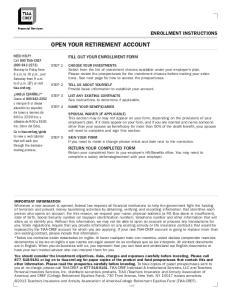 OPEN YOUR RETIREMENT ACCOUNT
