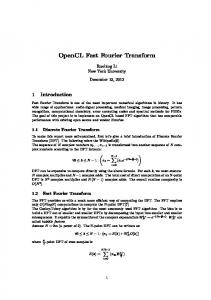 OpenCL Fast Fourier Transform