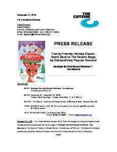 Opening Night: Friday, November 11, at 7:00 p.m