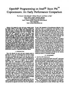 OpenMP Programming on Intel R Xeon Phi TM Coprocessors: An Early Performance Comparison