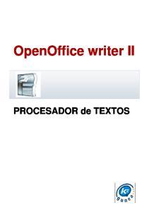 OpenOffice writer II. PROCESADOR de TEXTOS