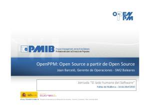 OpenPPM: Open Source a partir de Open Source
