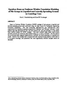 OpenSees Beam on Nonlinear Winkler Foundation Modeling of Pile Groups in Liquefied and Laterally Spreading Ground in Centrifuge Tests