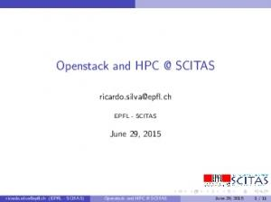 Openstack and SCITAS