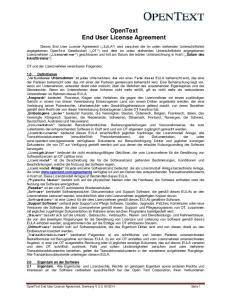 OpenText End User License Agreement